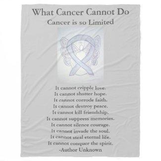 Brain Cancer Gray Awareness Ribbon Fleece Blanket