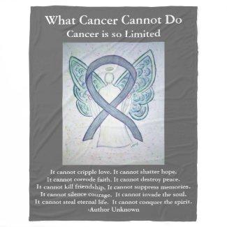 Gray Awareness Ribbon Brain Cancer Angel Blankets