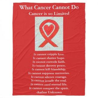 Blood Cancer Awareness Ribbon Fleece Blankets