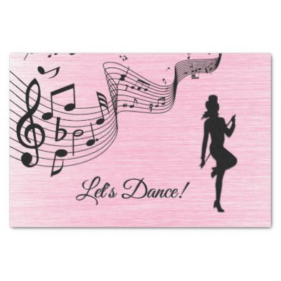 Tap Dance Pink Tissue Paper