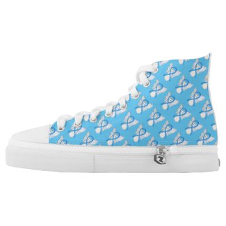 Light Blue Awareness Ribbon Angel Custom High Tops
