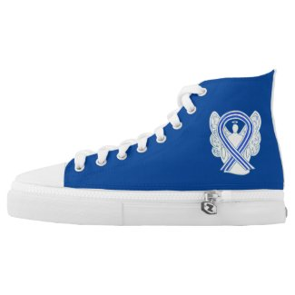 ALS Awareness Ribbon Angel Custom Design Shoes