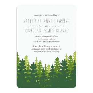 Rustic Pine Forest Wedding Invitation