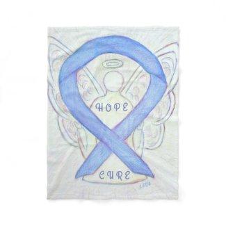 Periwinkle Awareness Ribbon Angel Hope Blanket