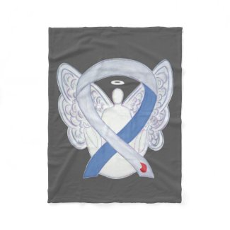 Diabetes Awareness Ribbon IDDM Angel Soft Blanket