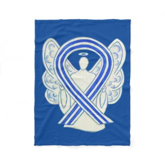ALS Awareness Ribbon Angel Custom Art Blanket