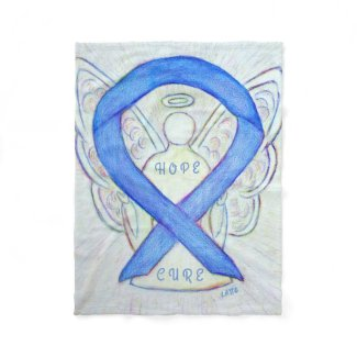 Violet Awareness Ribbon Hope Cure Angel Blanket
