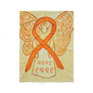 Orange Awareness Ribbon Angel Hope Cure Blanket