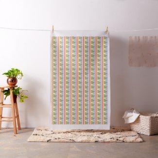 Blue Angel Rainbow Stripe Fabric Art Material