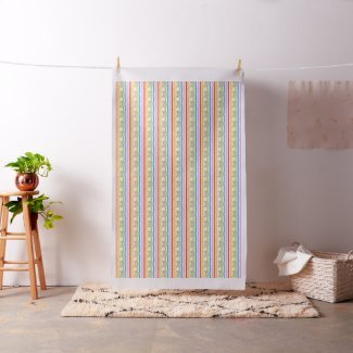 White Angel Rainbow Stripe Fabric Art Material