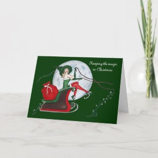Keeping the Magic in Christmas Holiday Card