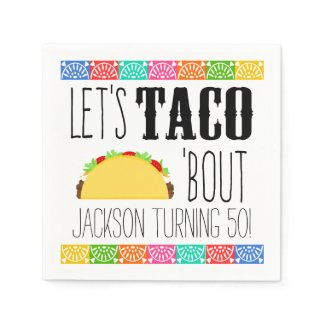 Taco 'Bout Birthday Party Paper Napkins