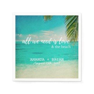 Love and the Beach Wedding Napkins