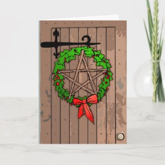 Pagan Wreath Holiday Greeting Card