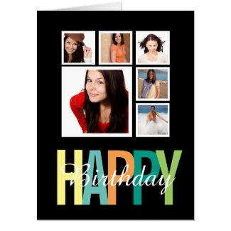 Personalized Happy Birthday Photo Card