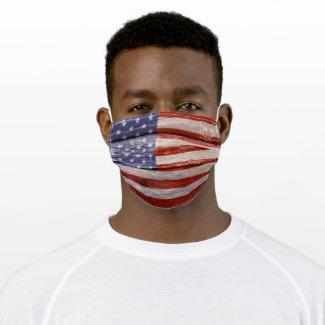 Rustic American Flag. Patriotic Cloth Face Mask