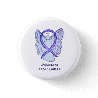 Orchid Awareness Ribbon Angel Custom Art Pins