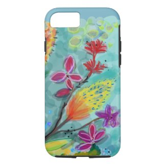 Blue field of Flowers Tough iPhone 7/8 Case