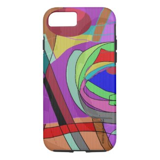 Abstract Cubist geometric iPhone 7/8 case