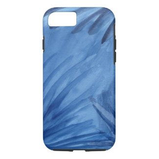 Abstract Blue Streaks Watercolor Painting iPhone 7 Case