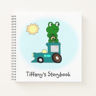 Zen Frog on a Train Notebook