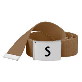 Solid Nutmeg Brown Monogram Belt