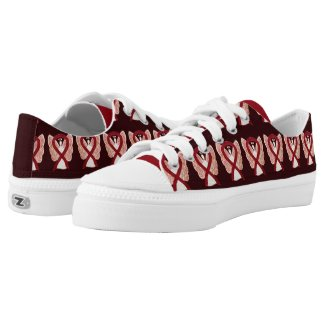 Burgundy Awareness Ribbon Angel Custom Sneakers