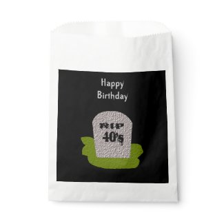 RIP Tombstone Personalized Trick or Treat Favor Bag