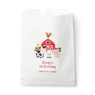 Farm Favor Bags (Personalized with Your Message)