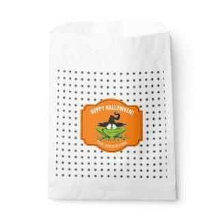 Hoppy Halloween Frog ID221 Favor Bag