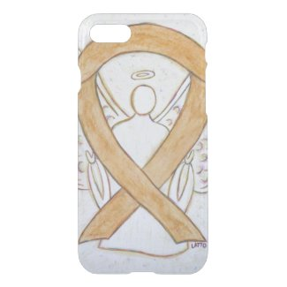 Amber Awareness Ribbon Angel iPhone 7 Case