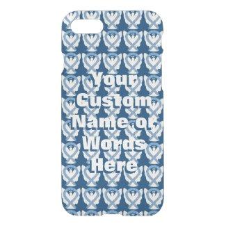 Blue Paisley Angel Awareness Ribbon iPhone Case