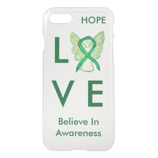 Green Awareness Ribbon iPhone Custom 7 Angel Case