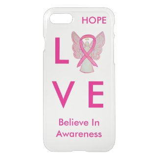 Pink Awareness Ribbon iPhone 7 Angel Case