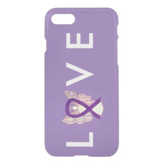 Purple Awareness Angel Ribbon Custom iPhone 7 Case