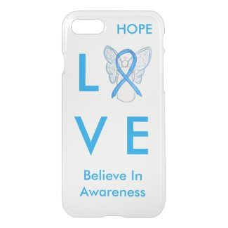 Light Blue Awareness Ribbon iPhone 7 Angel Case