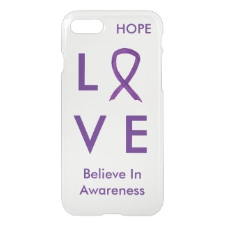 Purple Awareness Ribbon iPhone 7 Cases
