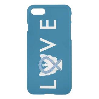 Blue Paisley Awareness Angel Ribbon iPhone 7 Case