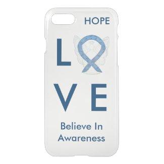 Blue Paisley Awareness Ribbon iPhone 7 Angel Case