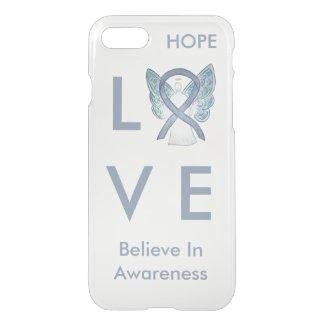 Gray Awareness Ribbon Custom iPhone 7 Angel Case