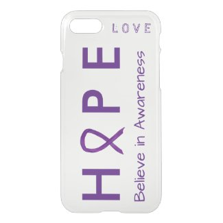 Hope Awareness Purple Ribbon Custom iPhone 7 Cases