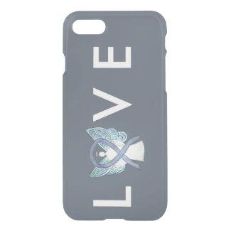 Gray Awareness Angel Ribbon Custom iPhone 7 Case