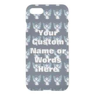 Gray Angel Awareness Ribbon Custom iPhone Cases