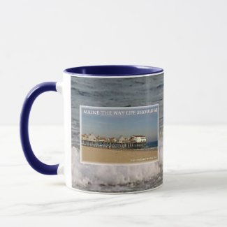 Old Orchard Beach Pier Maine Mug