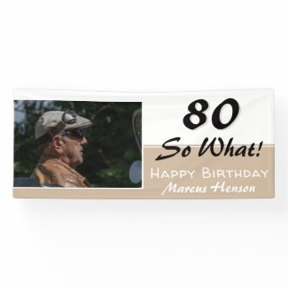 70th Birthday Funny Quote Modern Photo Party Banner