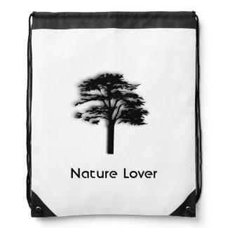 A Tree Green Drawstring Bag