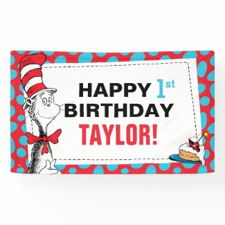 Dr. Seuss | The Cat in the Hat Birthday Banner