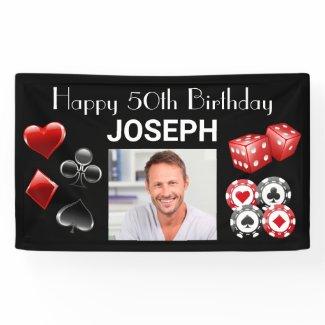 Casino Happy Birthday Any Age Banner