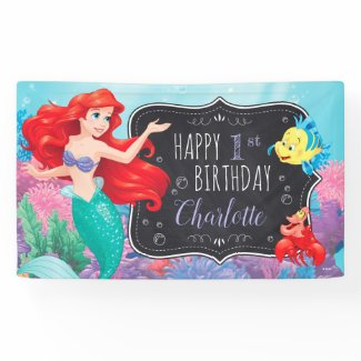 Ariel | The Little Mermaid - Chalkboard Banner