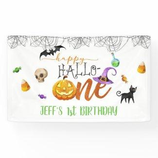 Halloween First Birthday Banner